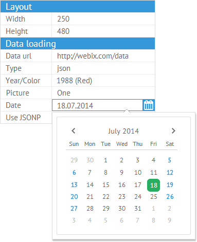 date-picker-in -property-view