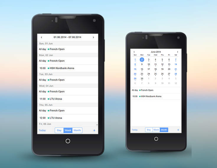 Recurring events in Webix Mobile Scheduler