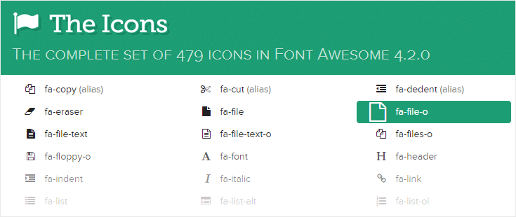 updated font awesome 4.2