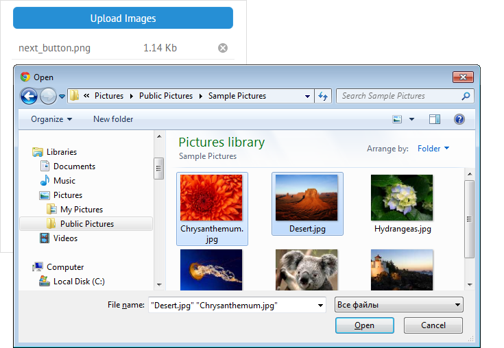 types of files in file uploader
