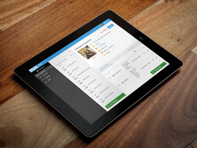 webix crm on tablets