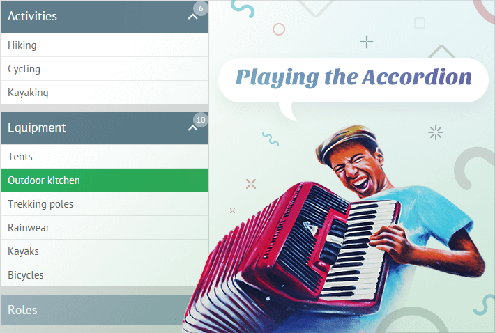 Webix Accordion Widget