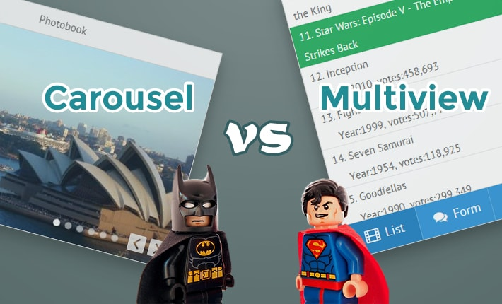 carousel widget vs multiview