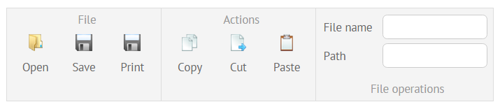 setting items and tabs at ribbon interface
