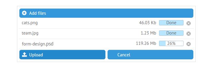 Online JavaScript File Upload Using Webix Framework
