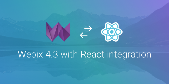 Webix UI library with React integration
