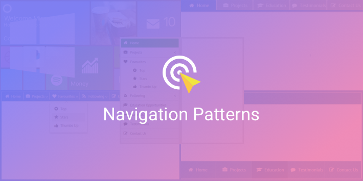 navigation design patterns
