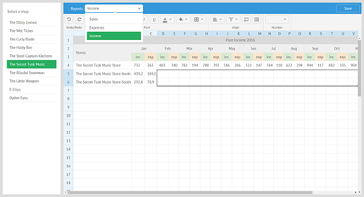 Create report engine with SpreadSheet