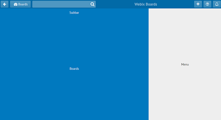 webix toolbar for a trello alternative