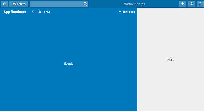 webix toolbar as a subbar for trello alternatives