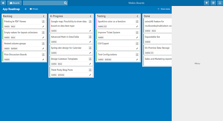 trello kanban board for alternatives to trello with webix