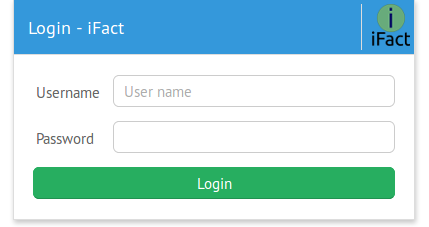 webix couchDB ifact login form