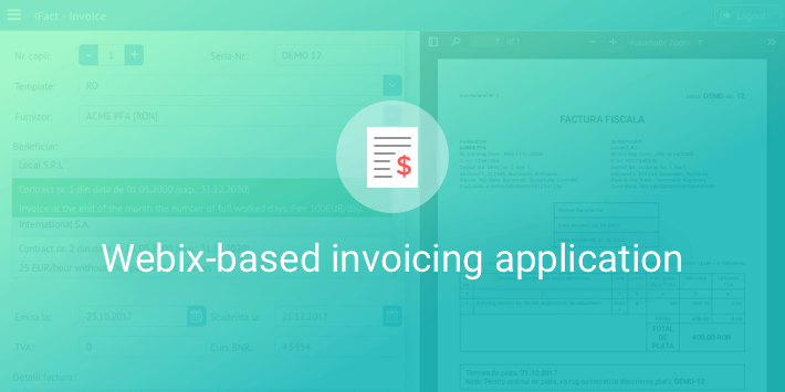 iFact: Developing a Webix-based invoicing application