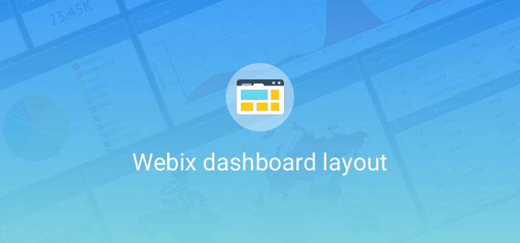 webix grid dashboard layout