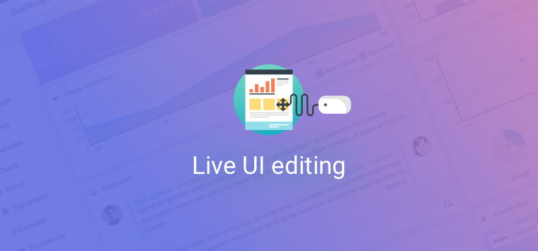 Creating Apps with Live UI Editing using Webix AbsLayout