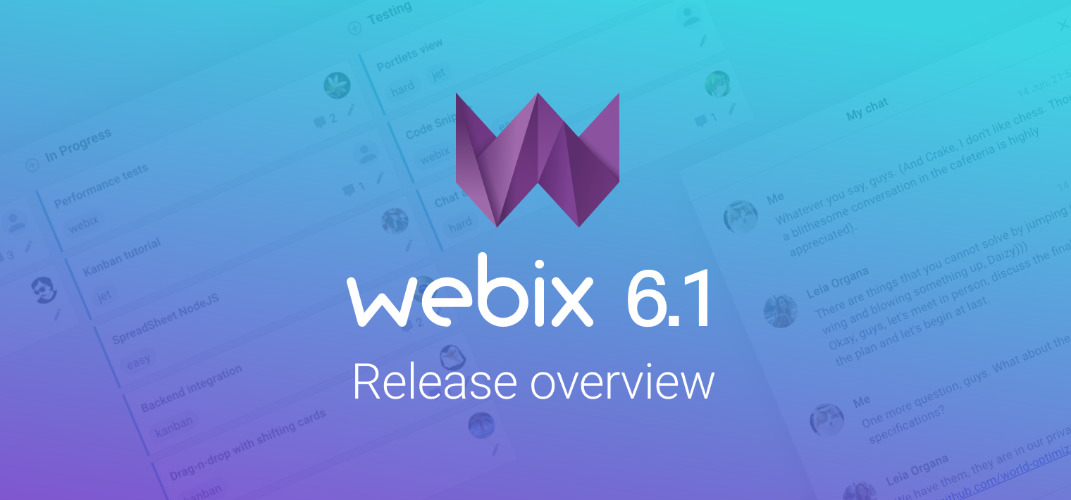 Webix 6.1 Release Overview: New Comments Widget, Updated Kanban and All Skins Support for Complex Widgets