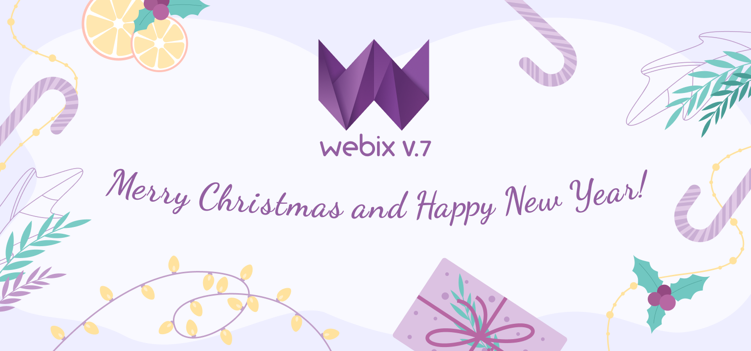 Wishes of Merry Christmas from Webix!